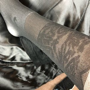NWOT Thigh High Lace Panty Hoes